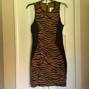 Chiqui Delgado mini zebra print dress black/brown